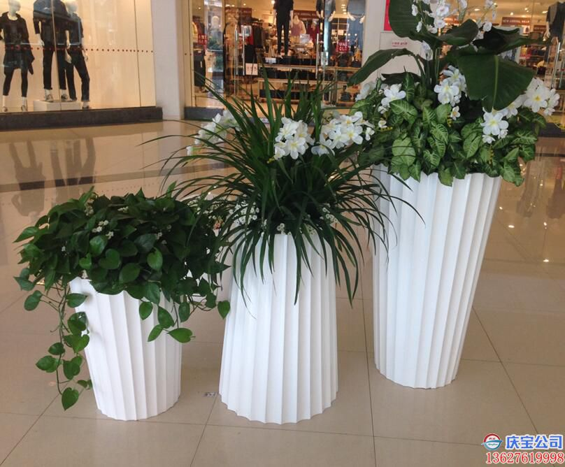 【序号19-181】商场花盆,BOB玻璃钢花盆定制