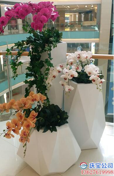 【序号19-183】BOB玻璃钢花盆,商场写字楼景观花盆