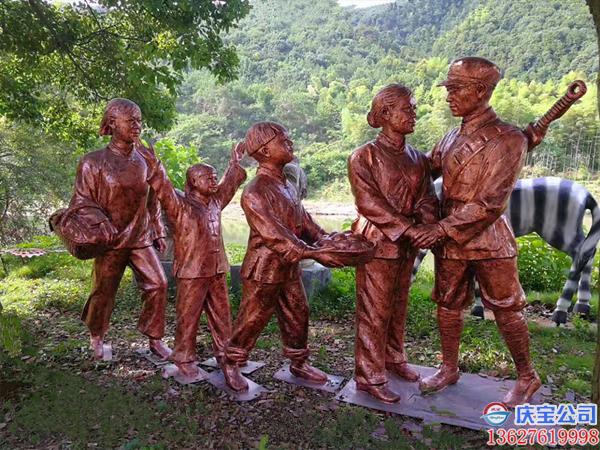 园林景观人物玻璃钢雕塑工程
