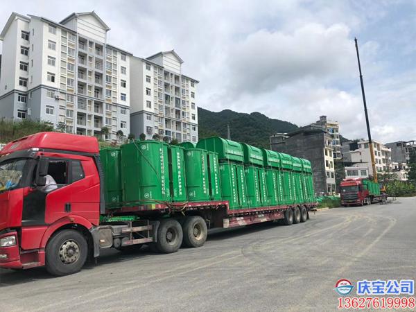 贵州望谟县环卫车垃圾箱顺利验收(图4)