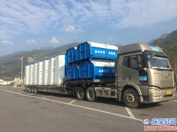 BOB巫山县市政环保垃圾收集箱,环卫设施交货(图3)