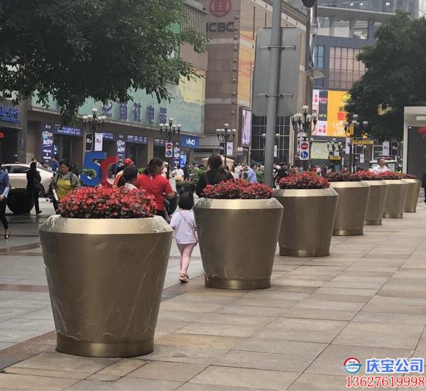 BOB步行街商圈花盆花箱,道路花箱