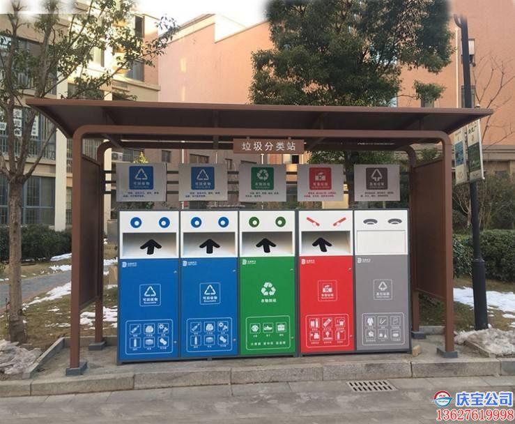 BOB小区社区垃圾分类亭设计安装厂家(图5)